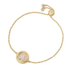NWT! Kate Spade Spade Slider Bracelet Gold Cream